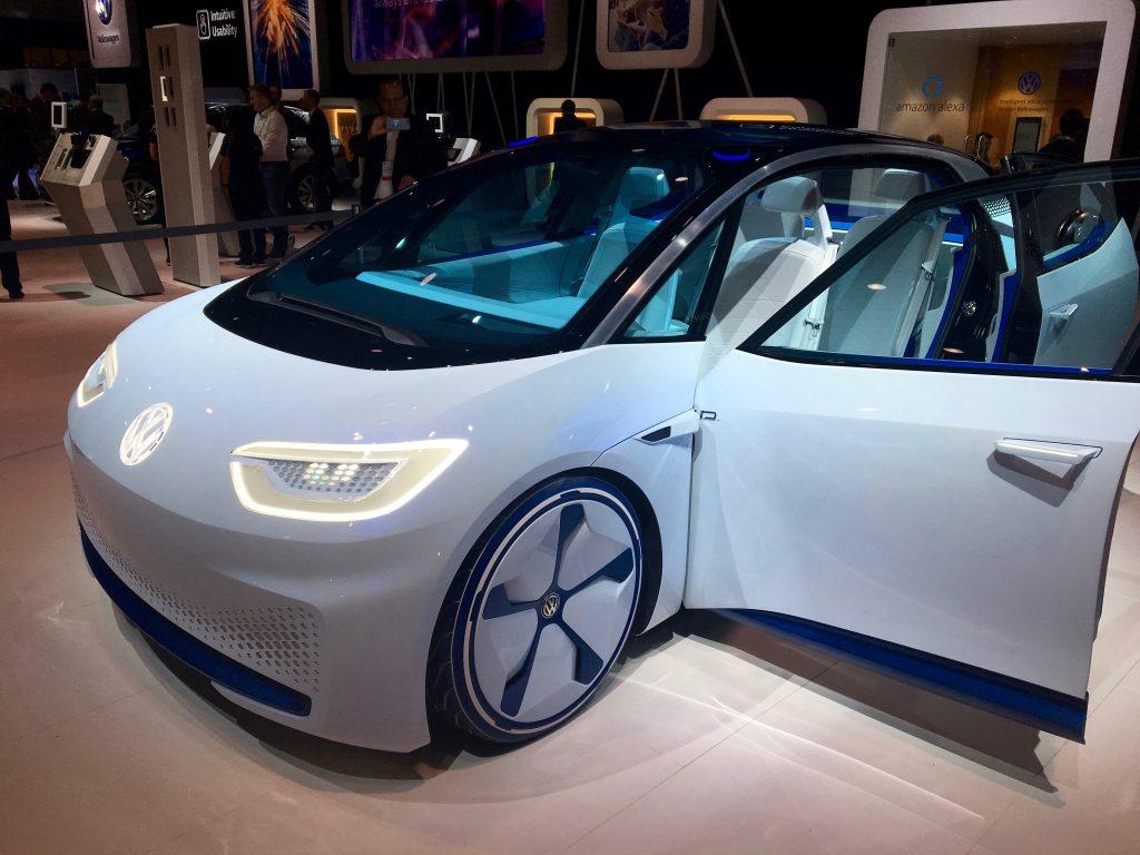 Volkswagon I.D. Electric Concept Car at CES 2017